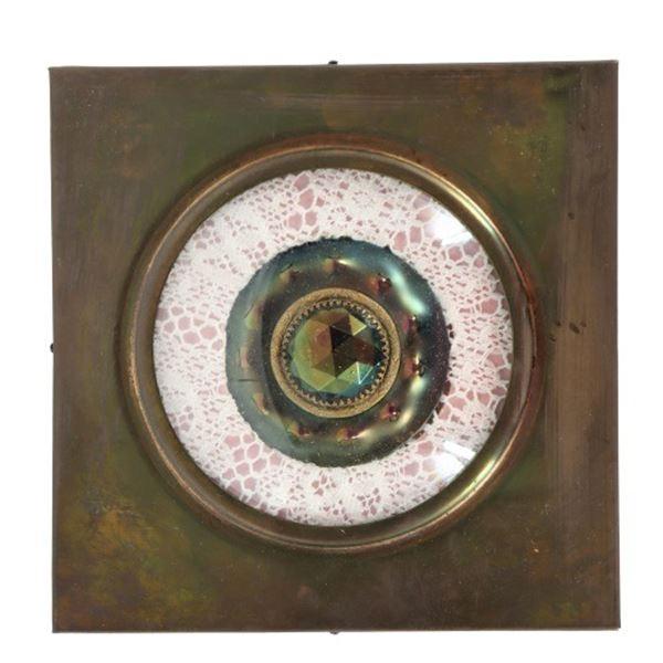 Framed Vintage Button