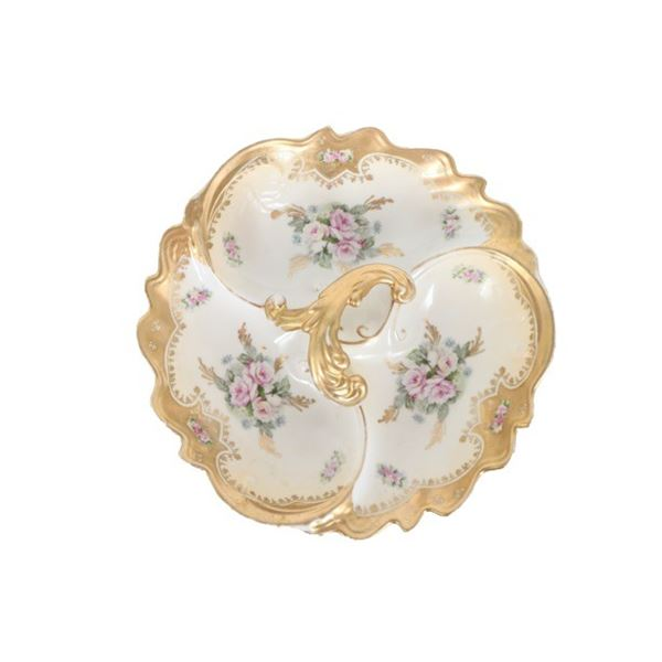 Royal Crown Hand-Painted Gilded Porcelain Dish