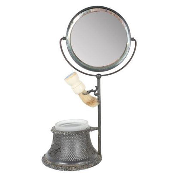 Vintage Portuguese Shaving Stand w Mirror