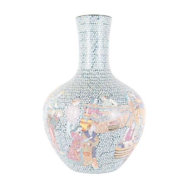 Chinese Palace Sized Gourd Vase