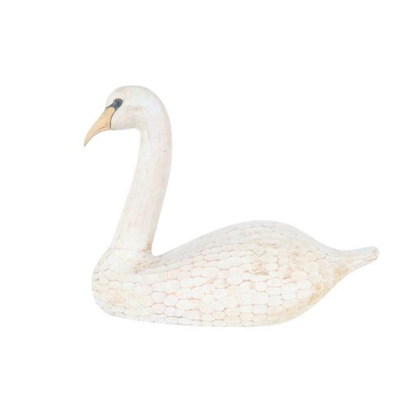 Hand Carved Swan Decoy