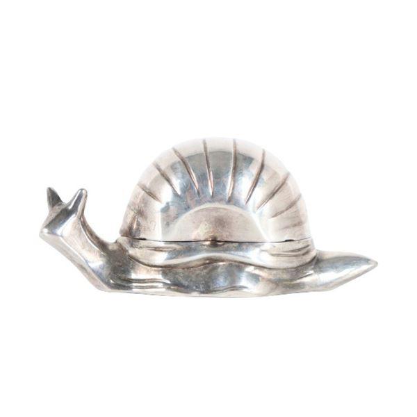 Hong Kong Silver Plated Snail Butter Dish