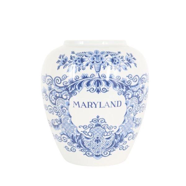 Royal Goedewaagen Delft Blue Maryland Tobacco Jar