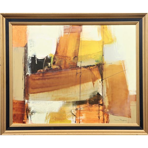 Signed Abstract Oil on Canvas Painting
