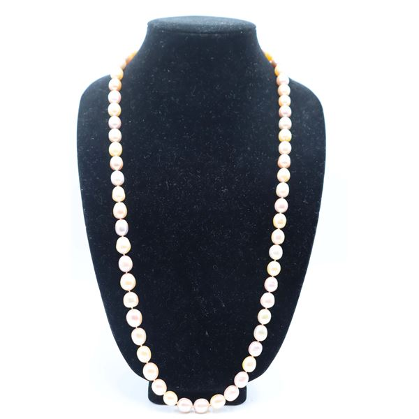 Large Pastel Pearl Necklace