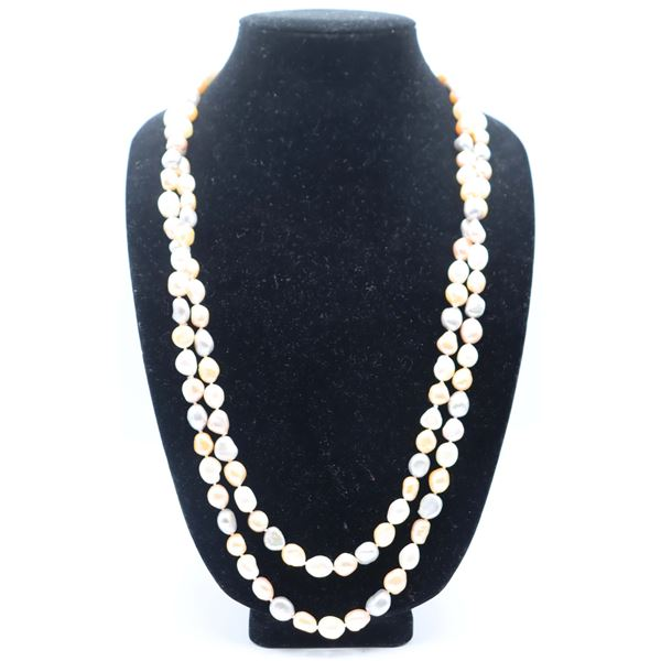 65 in. Pastel Strand Pearl Necklace