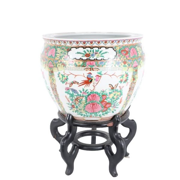 Chinese Hand Painted Fish Bowl