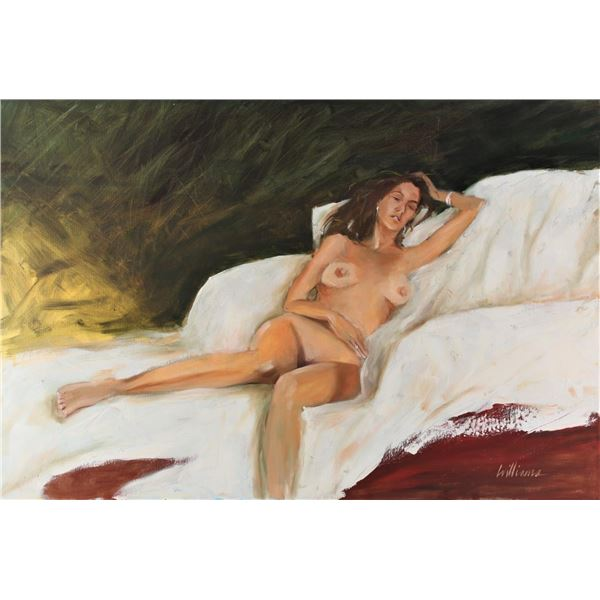 Female Nude, Signed, Oil on Canvas