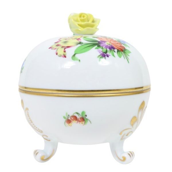 Herend Hungary Hand Painted Lidded Box