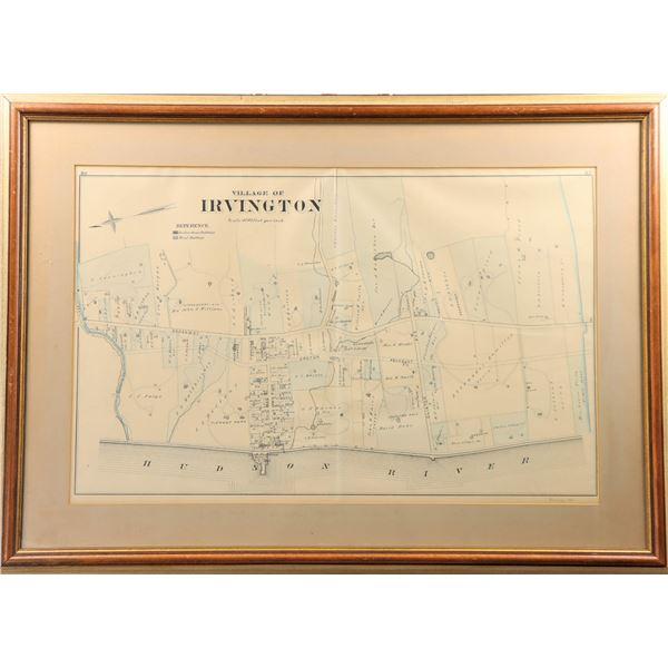 Antique Map of Irvington, New York