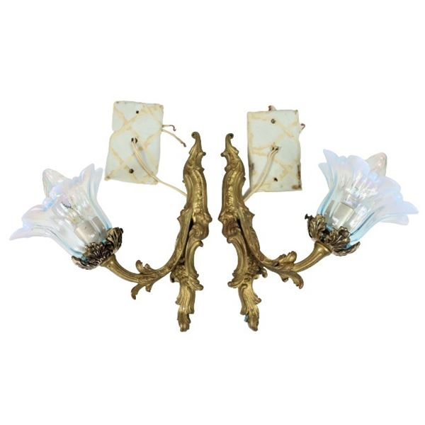 Pair of French Gilt Sconces