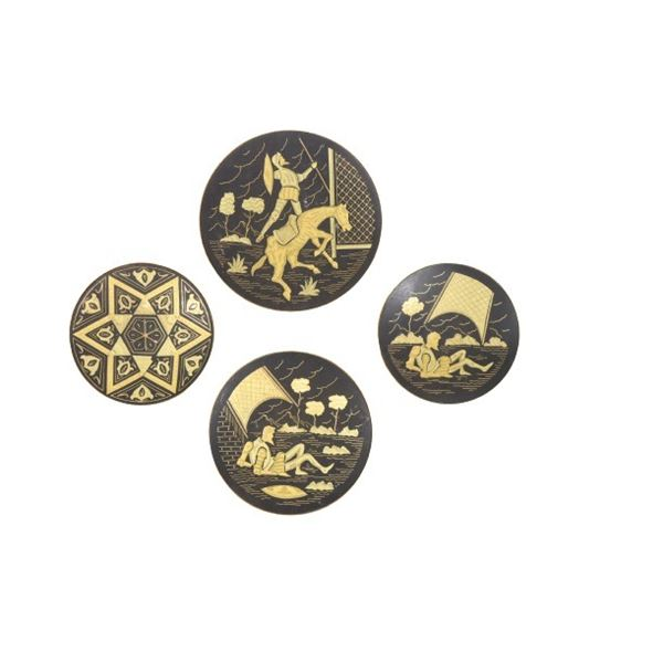 (4) Collection Decorative Footed Plates