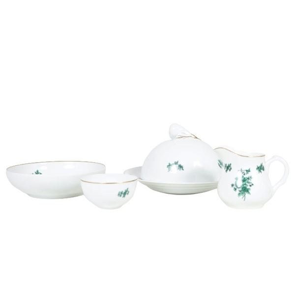 (4) Portuguese Porcelain Serving Set