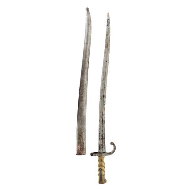 "French Model 1866 ""Chassepot"" Yataghan Bayonet"
