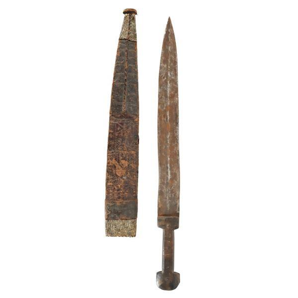 Heavily Embossed African Sword