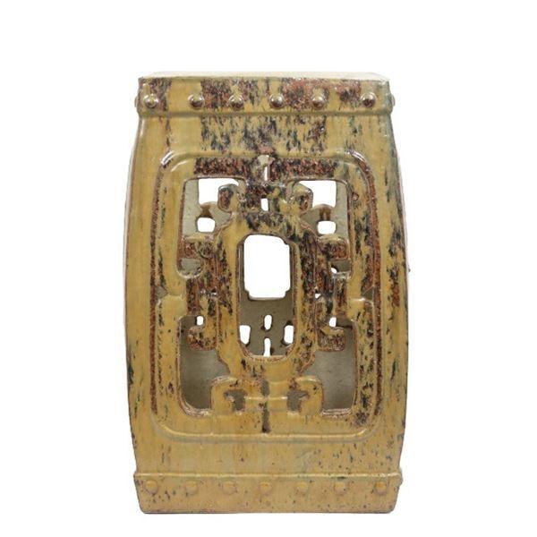 Chinese Glazed Terracotta Garden Seat