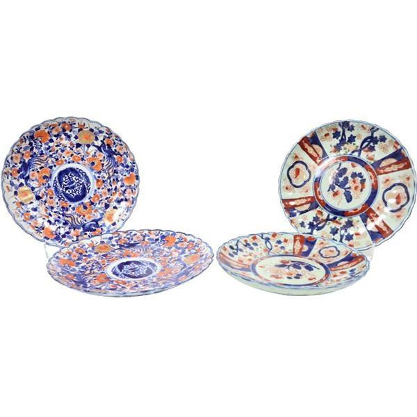 (4) Japanese Imari Porcelain Plates