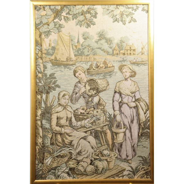 Large American Embroidery Scene