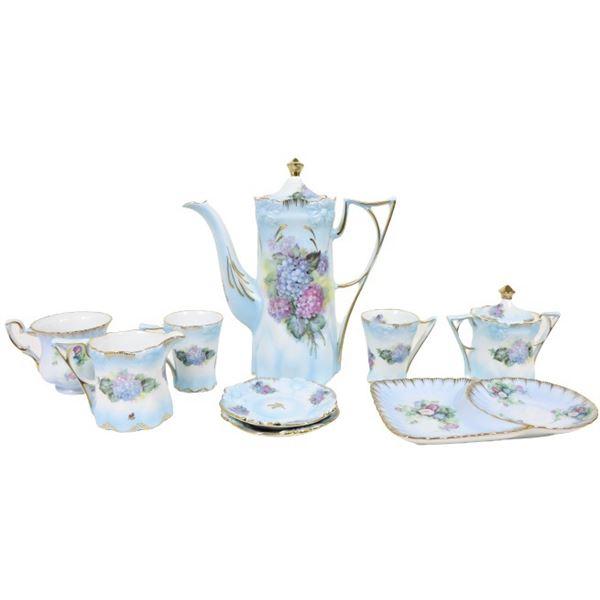 (9) Hand-painted Porcelain Tea Set