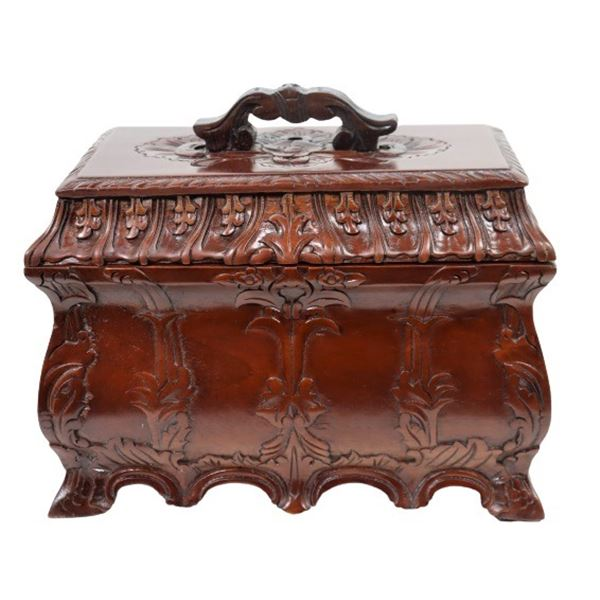 Hand Carved Wooden Hope Chest