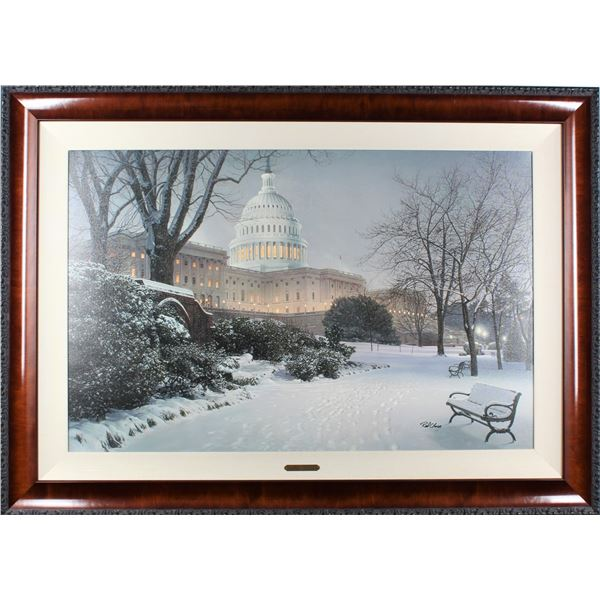 Rod Chase 'Evening on the Hill' Framed Giclee