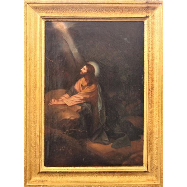 """After Heinrich Hoffman, """"Christ in Gethsemane"""""""