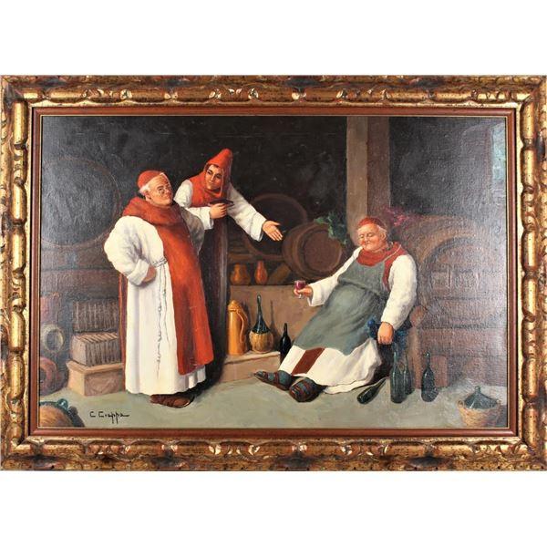 Carlo Ciapa (19/20th C.) Italian, Oil on Canvas