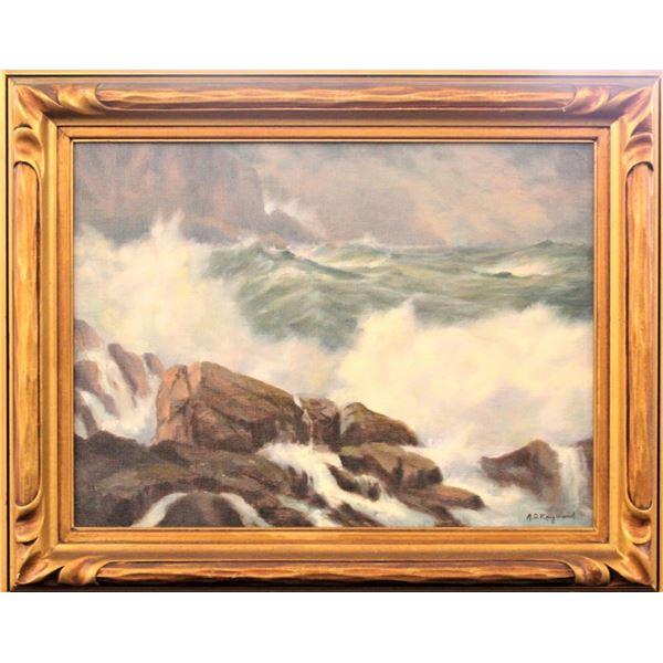 A.D. Raymond (20th C.) American, Oil on Canvas