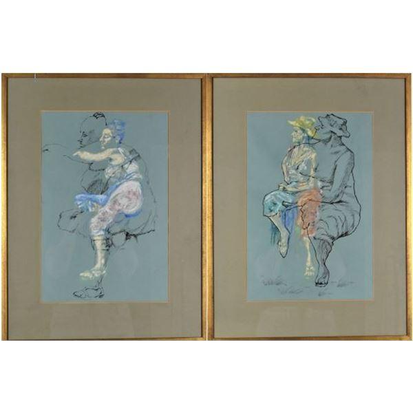 Joe Jaqua (b.1938) American, Ink & Pastel