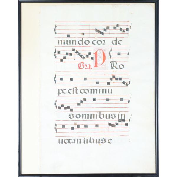 Antiphony of Medieval Gregorian Chant Manuscript