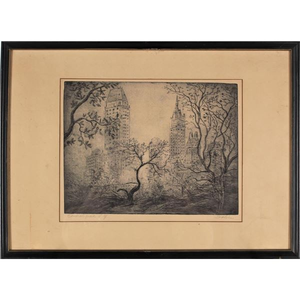 Leon Dolice (1892-1960) American, Etching