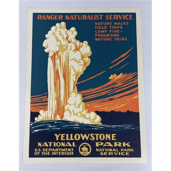 Yellowstone National Park Naturalist Poster