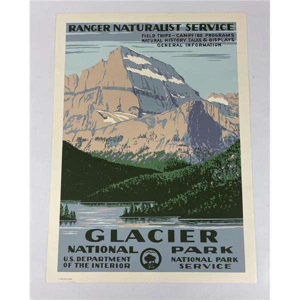Glacier National Park Naturalist Poster