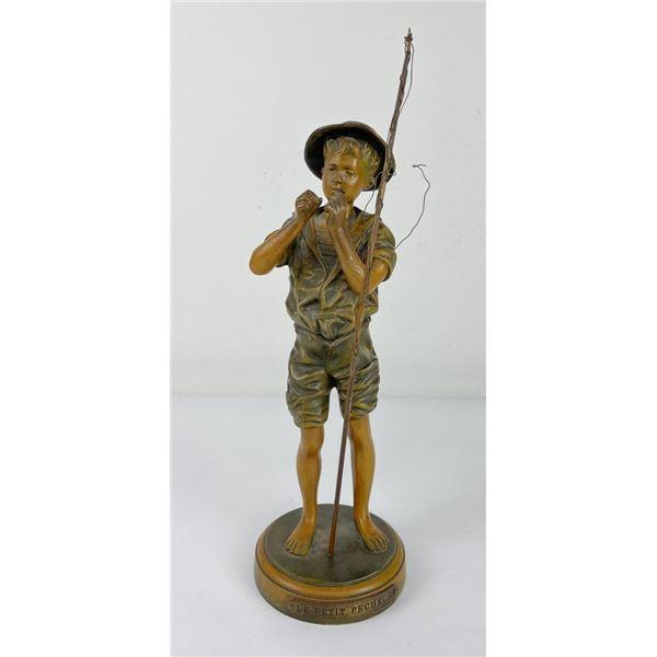Adophe Jean Lavergne The Little Fisherman Bronze