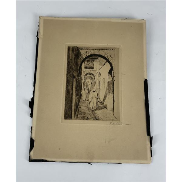 Unknown Etching Possibly Morocco Signed