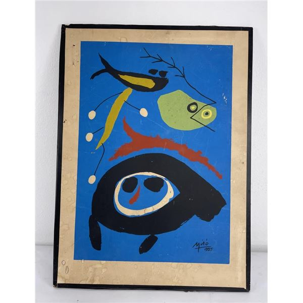 Joan Miro Serigraph Print Birds