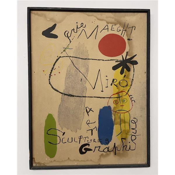 Joan Miro Galerie Maeght Stone Lithograph