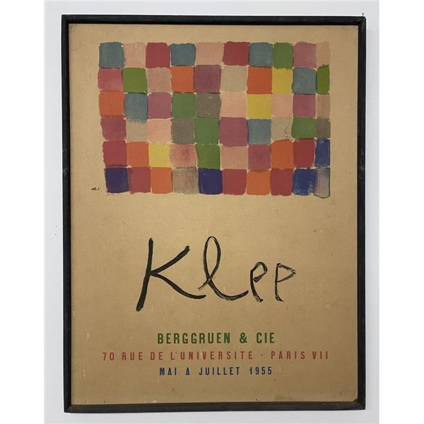 Poster for Klee Exhibition at Berggruen & Cie 1955