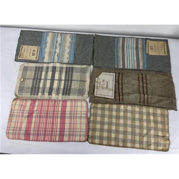 Antique Saleman Sample Wool Blanket Lot