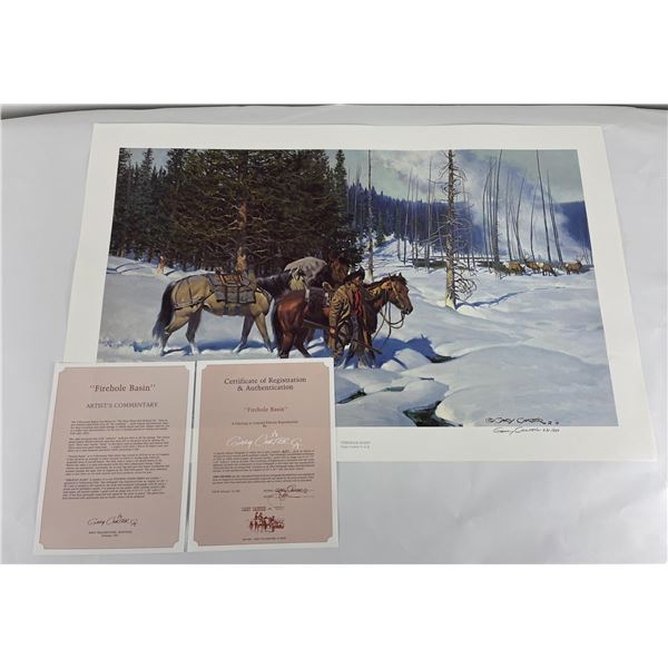 Firehole Basin Signed and Numbered Gary Carter
