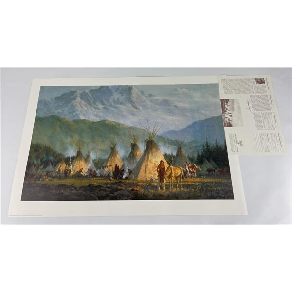 Howard Terpning Signed Numbered Print Crow Camp
