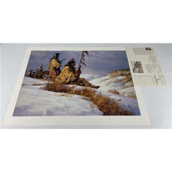Howard Terpning Signed Print Signals in the Wind