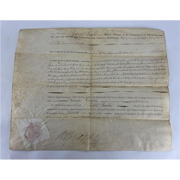 1795 Commonwealth of Virginia Land Indenture Deed