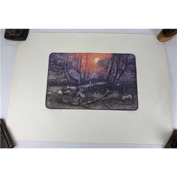 Roy Purcell Tinted Etching