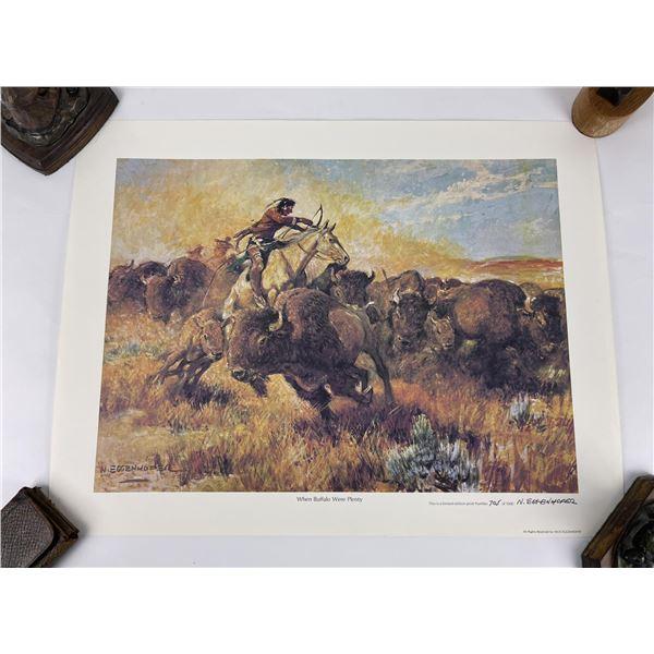 When Buffalo Were Plenty Nick Eggenhofer Print