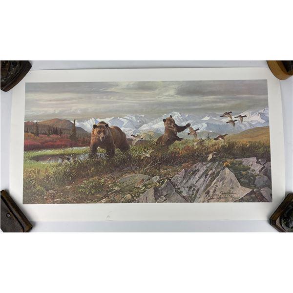 John Clymer Bears on the Tundra Signed Print