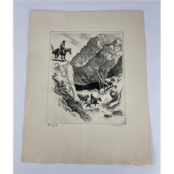 Reinhold H. Palenske Moving Up Engraving