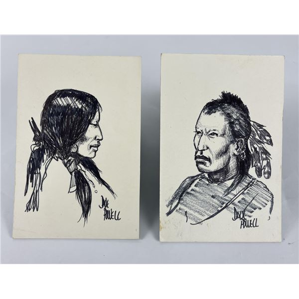 Dave Powell Pen and Ink Indian Drawings