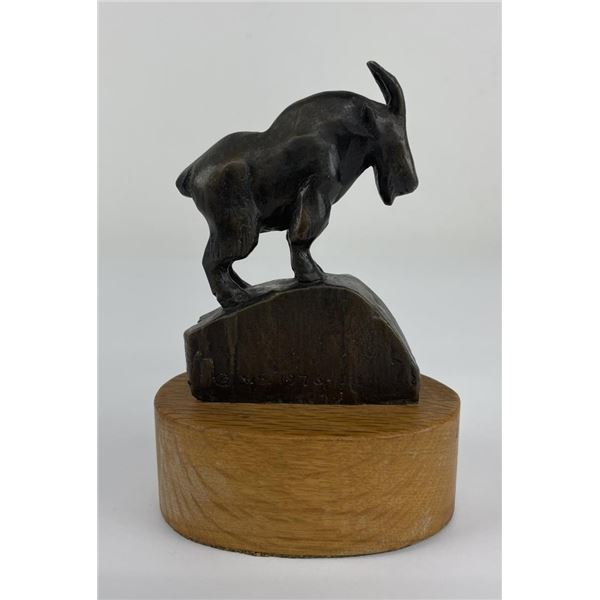 Ace Powell Bronze of Montana Mountain Goat