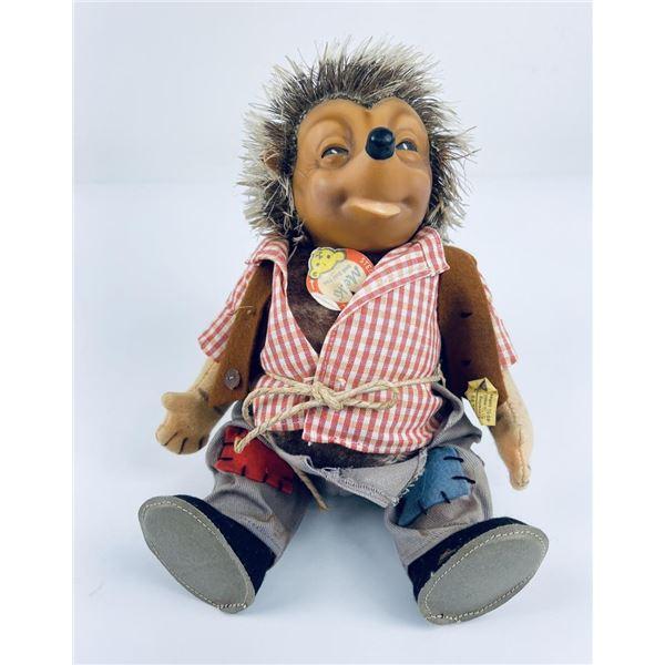 Stieff Mecki Hedgehog Toy Doll